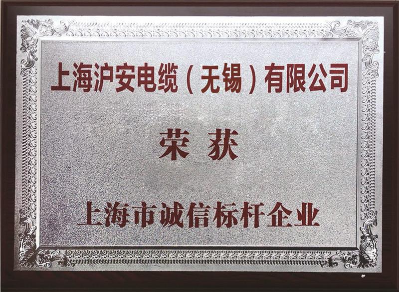上海市诚信标杆企业